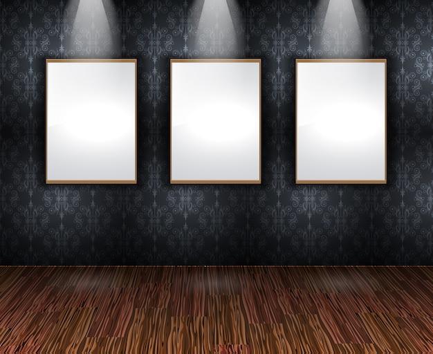現代的なエレガントなショールームの壁
