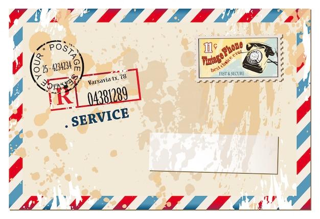 Винтажная композиция записки с старый стиль проблемных почтовых и некоторых пост наклейки.