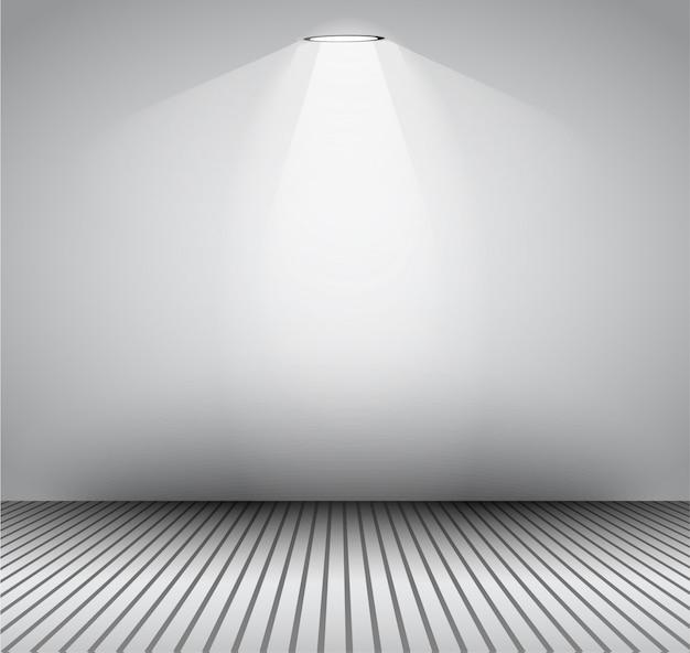 Современный интерьер художественная галерея кадр с прожекторами.