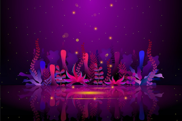 Джунгли фиолетовый цвет сада фон