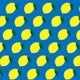 Желтый лимонный узор