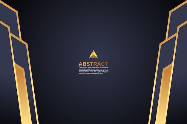 抽象的な色の濃い金の幾何学的な背景
