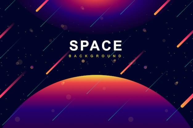 カラフルな空間と銀河の背景