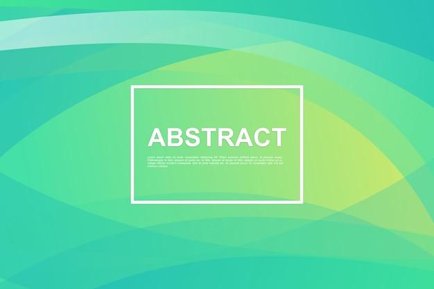 Абстрактный динамический зеленый фон