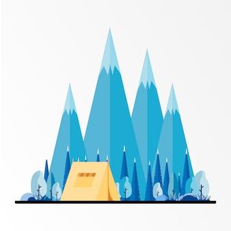 冬のキャンプ