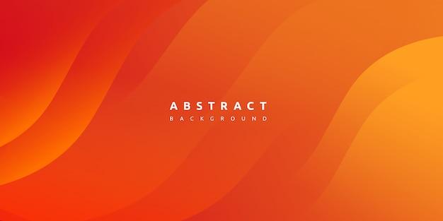抽象的な現代的なカラフルなグラデーションオレンジイエローカーブの背景