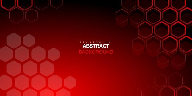 抽象的な動的な赤い六角形の背景