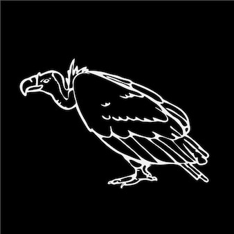Черно-белый дизайн грифы
