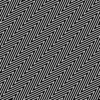 オプアートスタイルでジグザグパターンをジグザグ