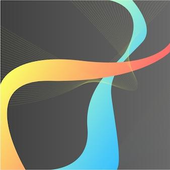 抽象的な背景。カラフルな要素。液体のライン、グラデーション。ホログラム