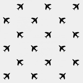 飛行機のパターンの背景