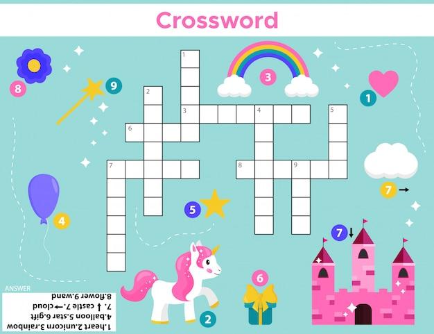 就学前の子供のためのクロスワード。