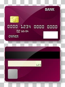 銀行カードの前面と背面