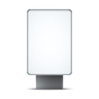 白い背景に分離された空白の屋外ライトボックス。