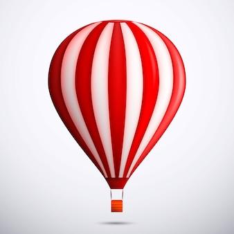 赤い熱気球イラスト