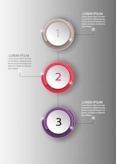 ビジネスサークルインフォグラフィックテンプレートは、図、ウェブサイト、企業レポート、広告に使用できます。