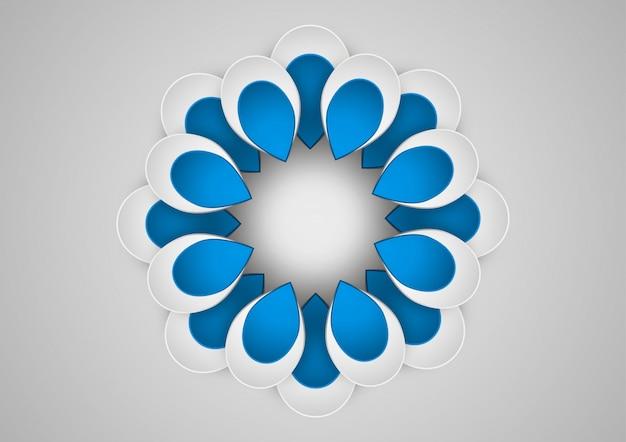 花の幾何学的な芸術のペーパーグラフィック。