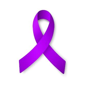 白で隔離される紫のリボンのイラスト。 。