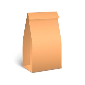 Коричневые бумажные пакеты для упаковки пищевых продуктов.