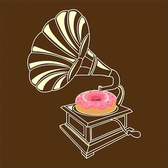 Граммофон пончик