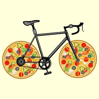自転車ピザ
