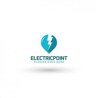 電気会社のロゴテンプレート