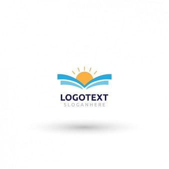 Абстрактный закат логотип