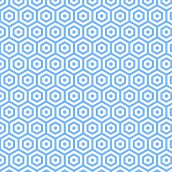 青色の多角形の摂餌デザイン