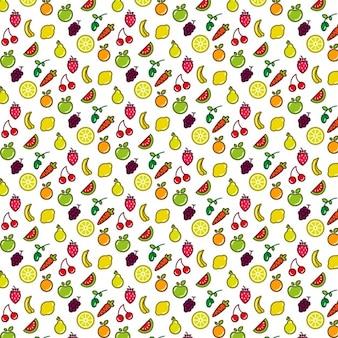 フルーツパターン