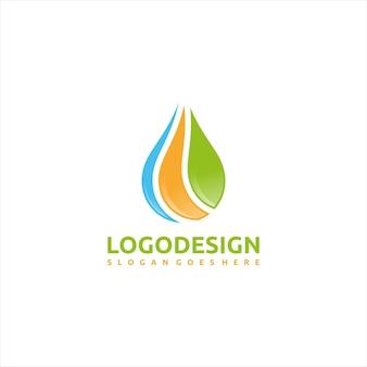 自然と水のロゴ