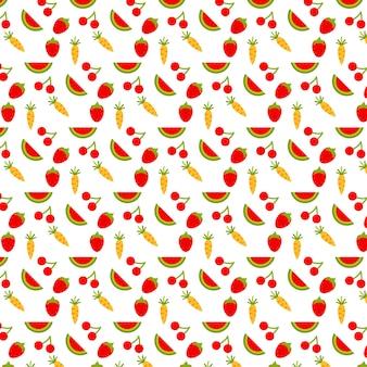Фон с фруктами и продуктами питания