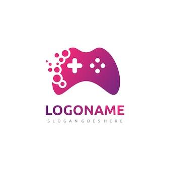 抽象的なゲームコントローラのロゴ