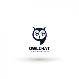 Сова шаблон логотипа