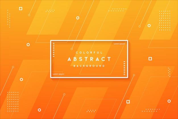 Современный абстрактный градиент оранжевого цвета с геометрической формой премиум