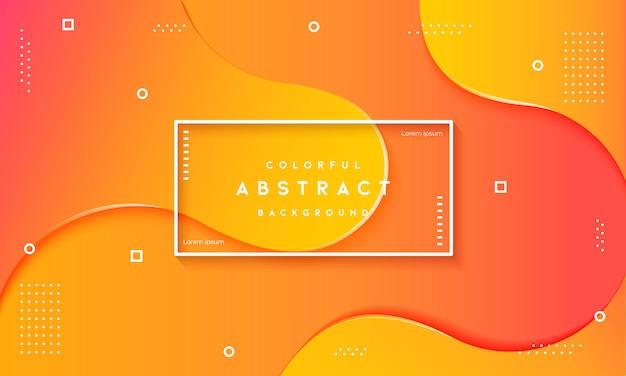 Абстрактный динамический флюид текстурированный оранжевый фон