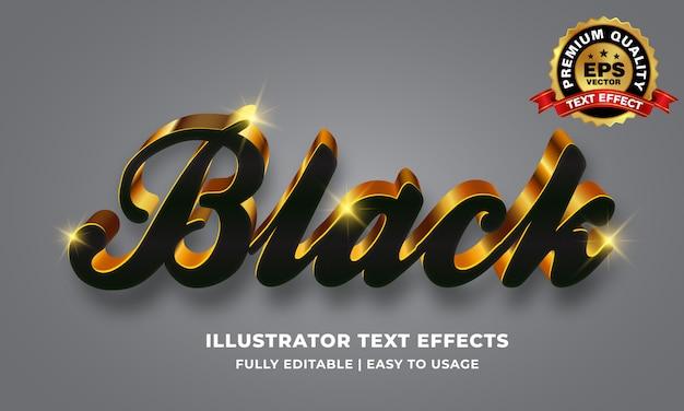 Черно-золотой текстовый эффект
