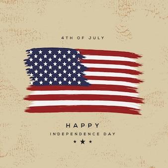 Американский день независимости премиум вектор