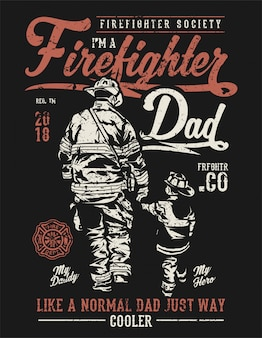 消防士のお父さん