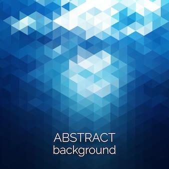 Абстрактный фон модель треугольников. голубая вода геометрических фон.