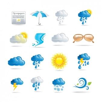 天気アイコンのコレクション