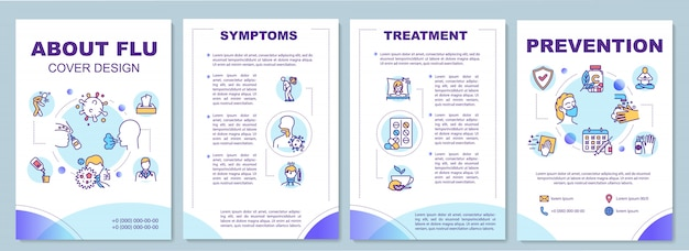 О шаблоне брошюры по гриппу