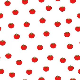 トマトの野菜夏市場のシームレスなパターン