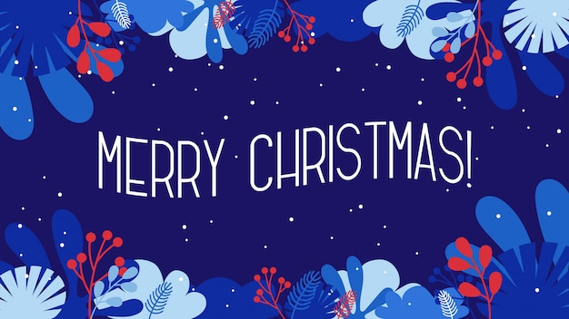 Плоские векторные иллюстрации стая о - с рождеством и новым годом поздравительная открытка и баннер
