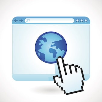 インターネットの概念 - 世界中のブラウザウィンドウ