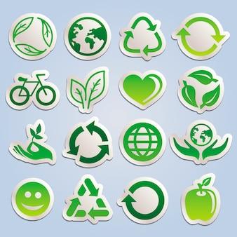 Набор с наклейками экологии