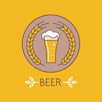 ベクトルビールバッジ