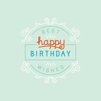 ベクトルお誕生日おめでとうグリーティングカード、最高の願い