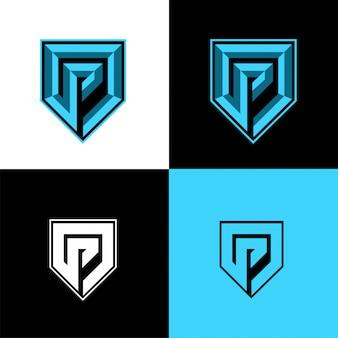 Р начальный спортивный логотип шаблон