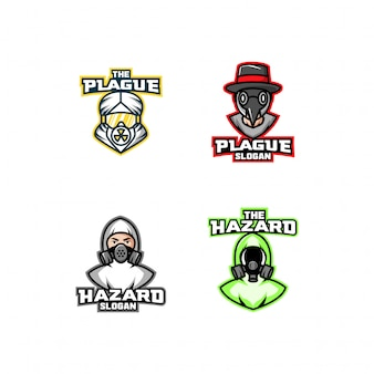 Набор маски с логотипом чумы