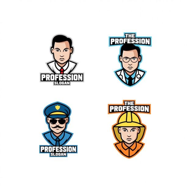 Набор логотипа профессии
